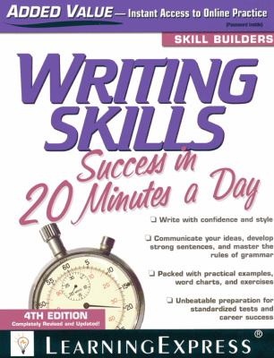 Writing Skills Success in 20 Minutes a Day 9781576856673