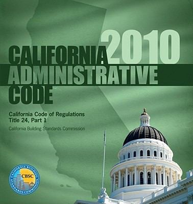 California Administrative Code, Title 24 Part 1 9781580019736