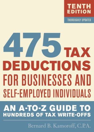 475 Tax Deductions for Businesses and Self-Employed Individuals: An A-To-Z Guide to Hundreds of Tax Write-Offs 9781589796621