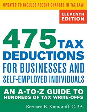 475 Tax Deductions for Businesses and Self-Employed Individuals: An A-To-Z Guide to Hundreds of Tax Write-Offs 9781589797987