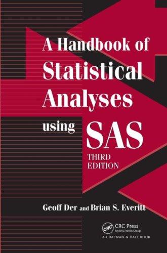 A Handbook of Statistical Analyses Using SAS 9781584887843