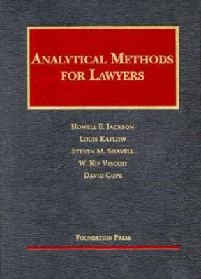 Analytical Methods for Lawyers 9781587785146