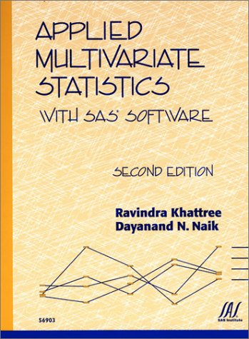 Applied Multivariate Statistics with SAS Software 9781580253574