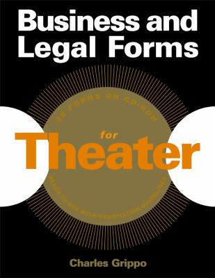 Business and Legal Forms for Theater [With CDROM] 9781581153231