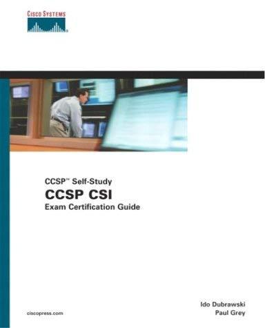 CCSP CSI Exam Certification Guide: Self-Study, 642-541 [With CDROM] 9781587200892