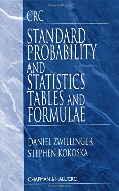 CRC Standard Probability and Statistics Tables and Formulae 9781584880592