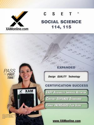 CSET Social Science 114-115 Teacher Certification Exam 9781581973402