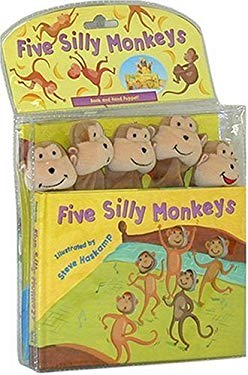 Five Silly Monkeys [With Hand Puppet and 3-D Monkey Faces] 9781581174601