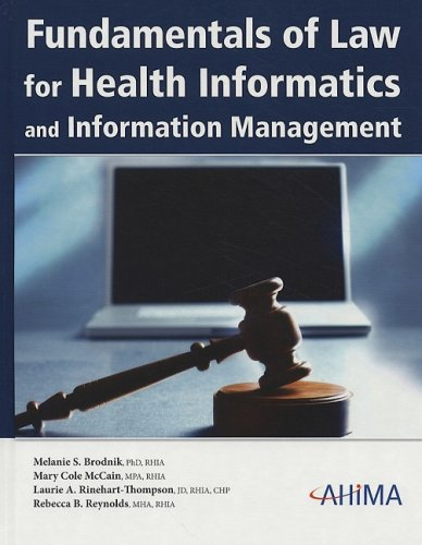 Fundamentals of Law for Health Informatics and Information Management [With CDROM] 9781584261735