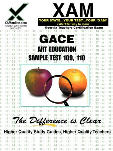 GACE Art Education Sample Test 109, 110 9781581975314