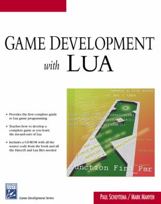 Game Development with LUA [With CD-ROM]