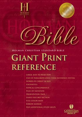 Giant Print Reference Bible-HCSB 9781586401573