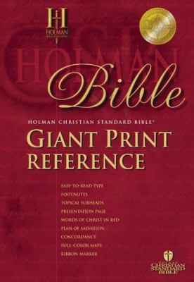 Giant Print Reference Bible-HCSB 9781586401603