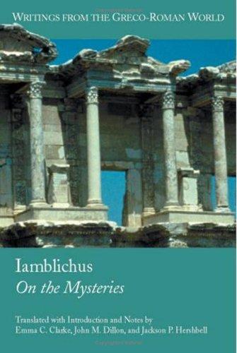 Iamblichus: On the Mysteries 9781589830585
