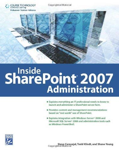 Inside SharePoint 2007 Administration [With CDROM] 9781584506010