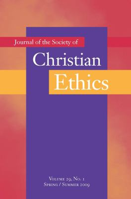 Journal of the Society of Christian Ethics 9781589012707