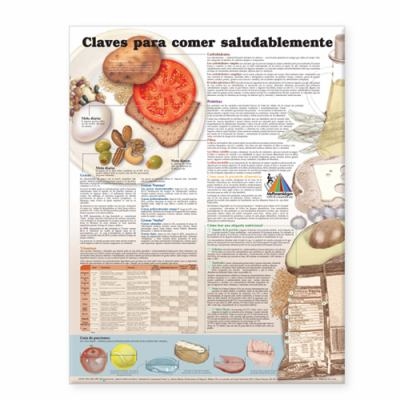Keys to Healthy Eating Anatomical Chart in Spanish (Claves Para Una Alimentacion Saludable) 9781587799501