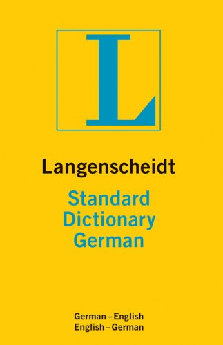 Langenscheidt Standard Dictionary German: German-English/English-German 9781585736119