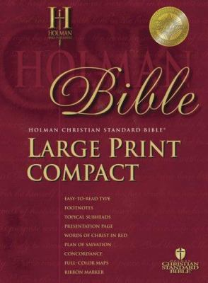 Large Print Compact Bible-Hcsb 9781586402426