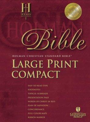 Large Print Compact Bible-Hcsb 9781586402433