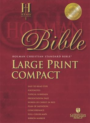 Large Print Compact Bible-Hcsb 9781586402495