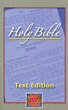 Large Print Text Bible-NASB 9781581351309