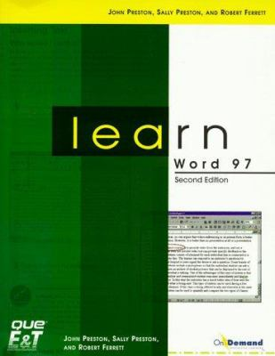 Learn Word 97 [With CD-ROM] 9781580763264