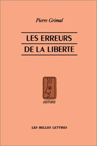 Les Erreurs de la Liberte 9781583487099