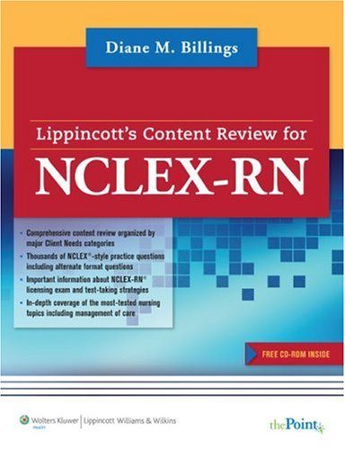 Lippincott's Content Review for NCLEX-RN [With CDROM] 9781582555157