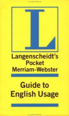Merriam-Webster Pocket Guide to English Usage 9781585733453