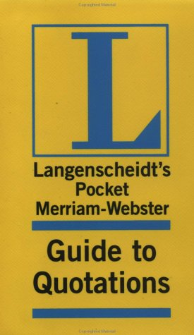Merriam-Webster Pocket Guide to Quotations 9781585733446