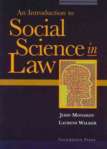 An Introduction to Social Science in Law 9781587789878