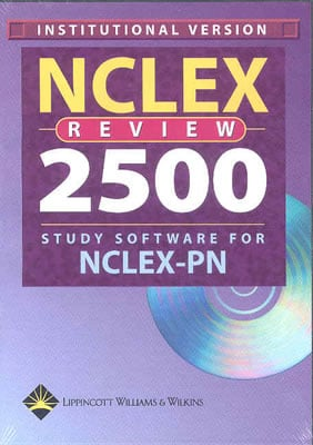NCLEX Review 2500 Study Software for NCLEX-PN Institutional: