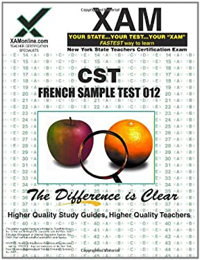 NYSTCE CST French Sample Test 012: teacher certification exam 9781581978582