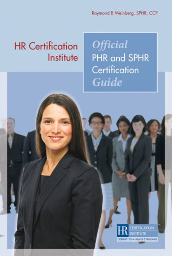 Official PHR and SPHR Certification Guide 9781586441494