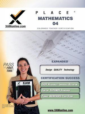 Place Mathematics 04 Teacher Certification Test Prep Study Guide 9781581977066