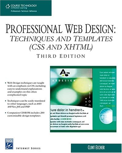 Professional Web Design: Techniques and Templates (CSS and XHTML) [With CDROM] 9781584505679