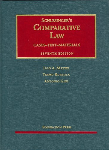 Schlesinger's Comparative Law 9781587785917