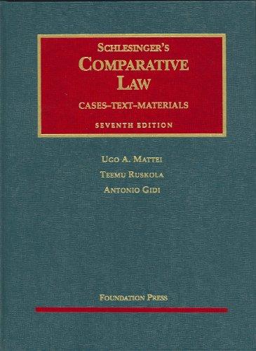 Schlesinger's Comparative Law