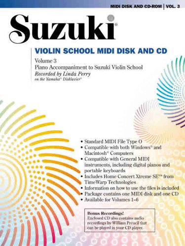 Suzuki Violin School, Vol 3: General MIDI Disk CD-ROM