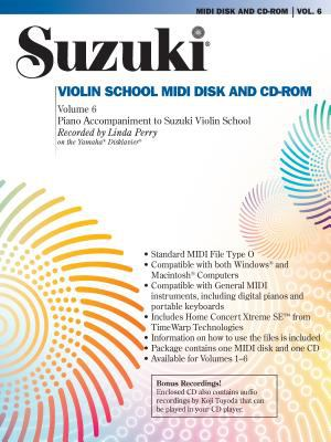 Suzuki Violin School, Vol 6: General MIDI Disk CD-ROM