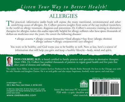 The Bible Cure for Allergies: Ancient Truths, Natural Remedies and the Latest Findings for Your Health Today [With Guidebook] 9781589261143