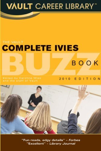 Vault Complete Ivies Buzz Book 9781581316292