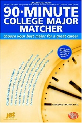 90-Minute College Major Matcher: Choose Your Best Major for a Great Career 9781593573607