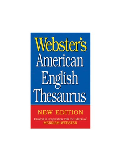 Webster's American English Thesaurus 9781596951150