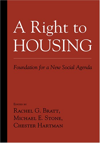 A Right to Housing: Foundation for a New Social Agenda 9781592134328