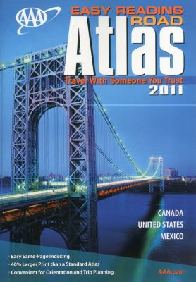 AAA Easy Reading Road Atlas: Canada, United States, Mexico 9781595083760