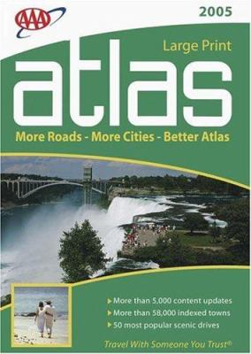 AAA Large Print Road Atlas 2005 9781595080141