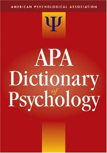 APA Dictionary of Psychology 9781591473800
