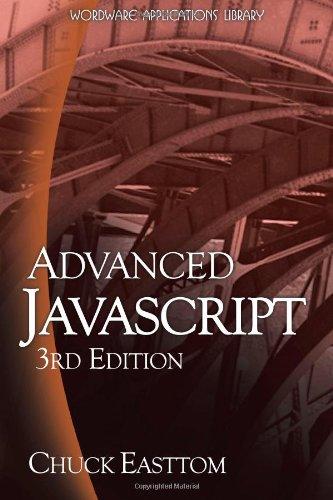 Advanced JavaScript 9781598220339